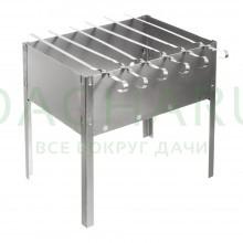 Мангал 350х250х350 мм, сборный + 6 шампуров (нерж.), в термопленке