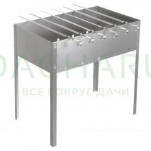 Мангал 500х300х500 мм, сборный, + 6 шампуров (нерж.), в картонной коробке