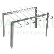 Мангал каркасный «Таганок» 420х40х250 мм сборный + 6 шампуров, в чехле