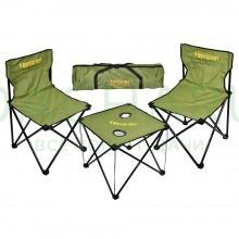 Набор складной мебели «Турист» (стол с подстаканниками, полиэстер 600 D, 48х48х42 см; 2 стула 45x45x72 см), в чехле