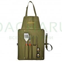 Набор (сумка-фартук, вилка, лопатка, щипцы, солонка, перечница)