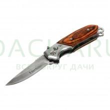 Нож складной автоматический, деревянная ручка, 8,514,5 см