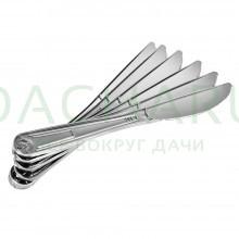 Ножи PREMIUM цвет-хром, одноразовые, пластиковые 6 шт в упаковке
