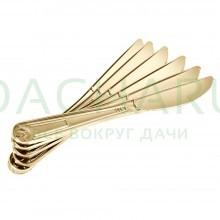 Ножи PREMIUM цвет-золото, одноразовые, пластиковые 6 шт в упаковке