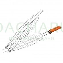 Решетка-гриль для рыбы 60(+4)х36х12х4 см
