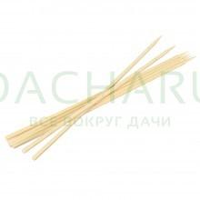 Шампуры бамбуковые 40x0,6x0,6 см, КВАДРАТНЫЕ, 6 шт в ПВХ упаковке