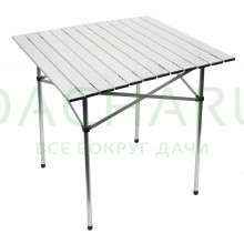 Стол складной 70x70 см алюминиевый, в чехле из полиэстера