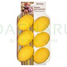 Форма силиконовая для выпечки «Яйца пасхальные», 6 ячеек , 26.5*17*3.5см.