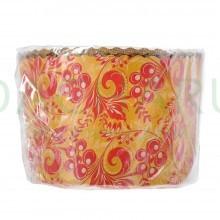 Набор бумажных форм для выпечки куличей «Пасхальный» 1 л. d 110*85 мм., 3 штуки